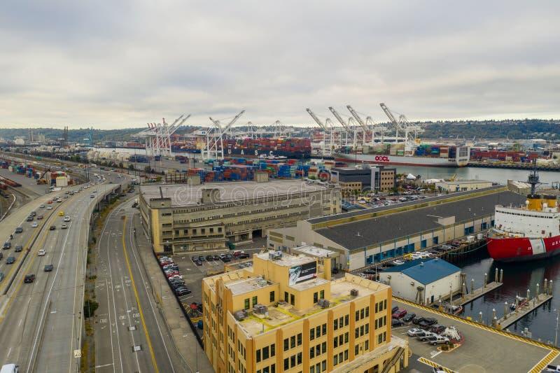 Служба береговой охраны США и приют для бездомных Сиэтл WA стоковое изображение rf
