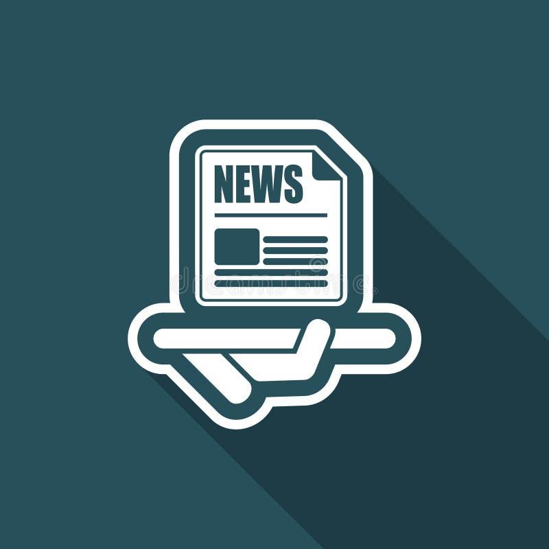 Служба новостей иллюстрация вектора