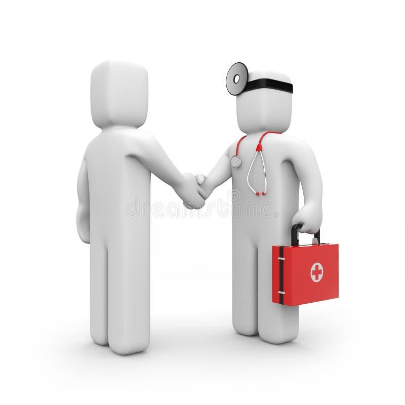 службы здравоохранения подряда иллюстрация вектора