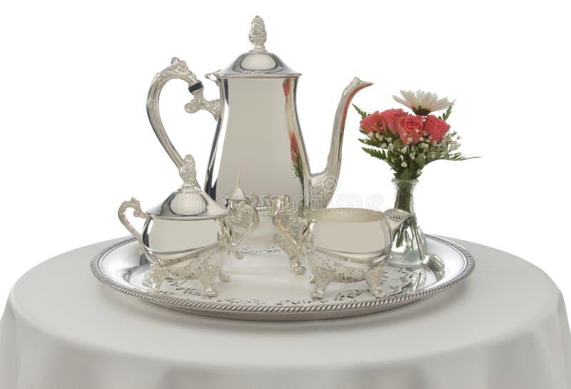 служят чай стоковые фотографии rf