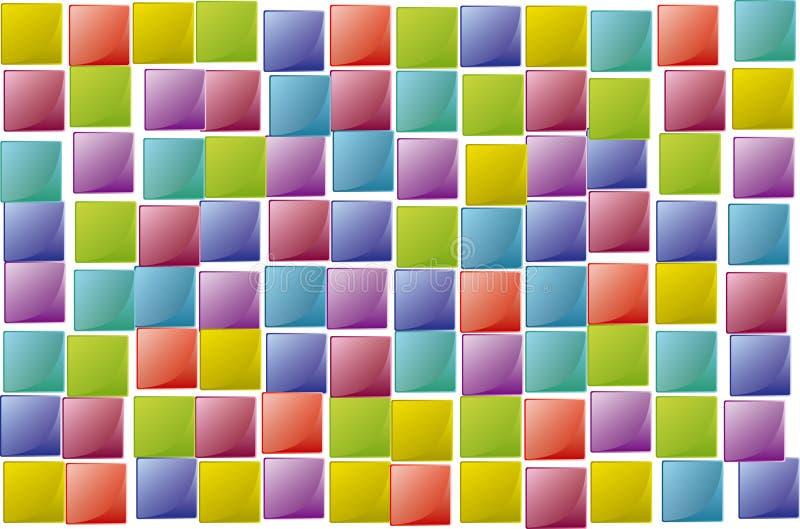 случайная текстура квадратов иллюстрация вектора