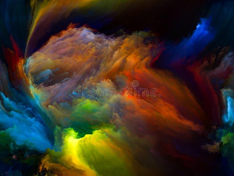 Случайное движение цвета иллюстрация вектора