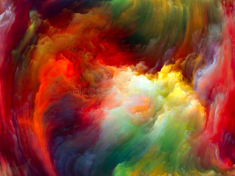 Случайное движение цвета иллюстрация штока