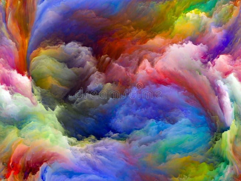 Случайное движение цвета бесплатная иллюстрация