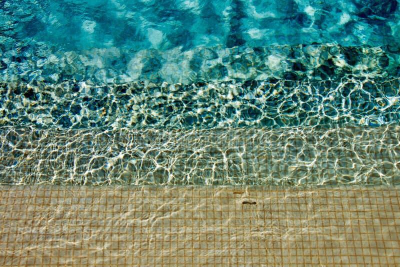 Случайные пульсации на шагах плавательного бассеина стоковые фотографии rf