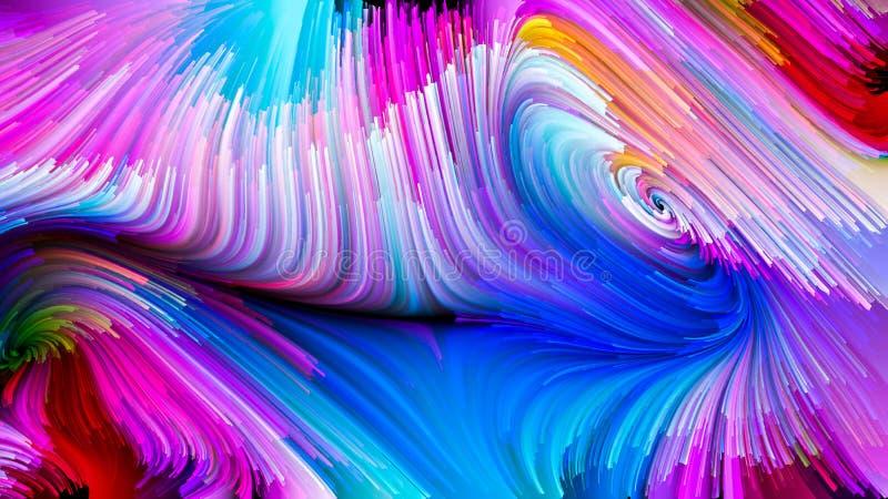 Случайный жидкостный цвет иллюстрация вектора