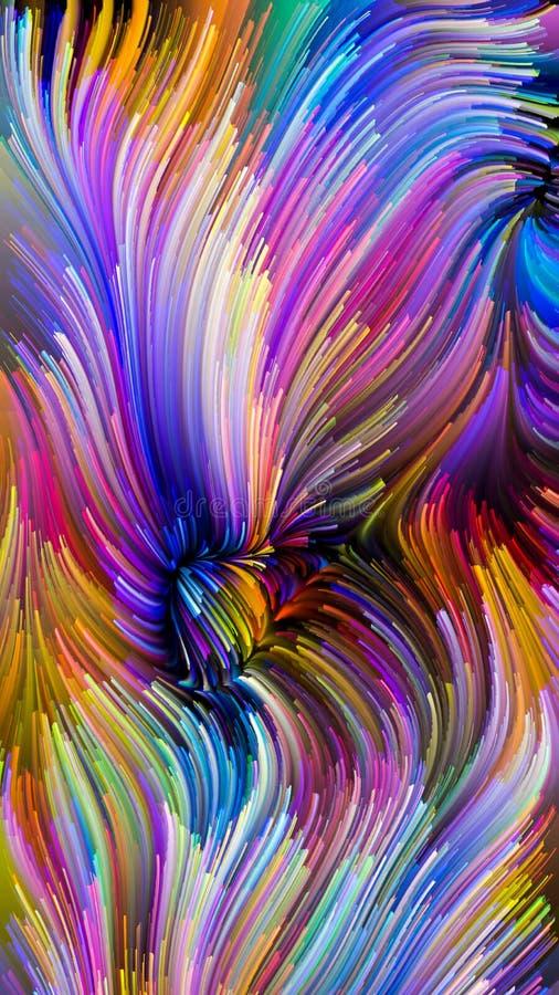 Случайный жидкостный цвет иллюстрация штока