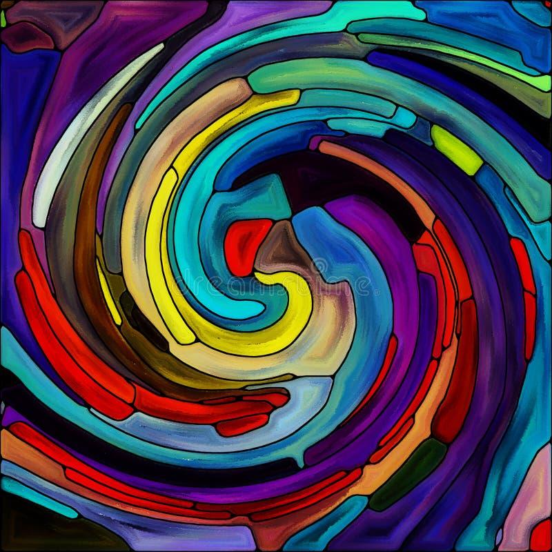 Случайный спиральный цвет иллюстрация штока