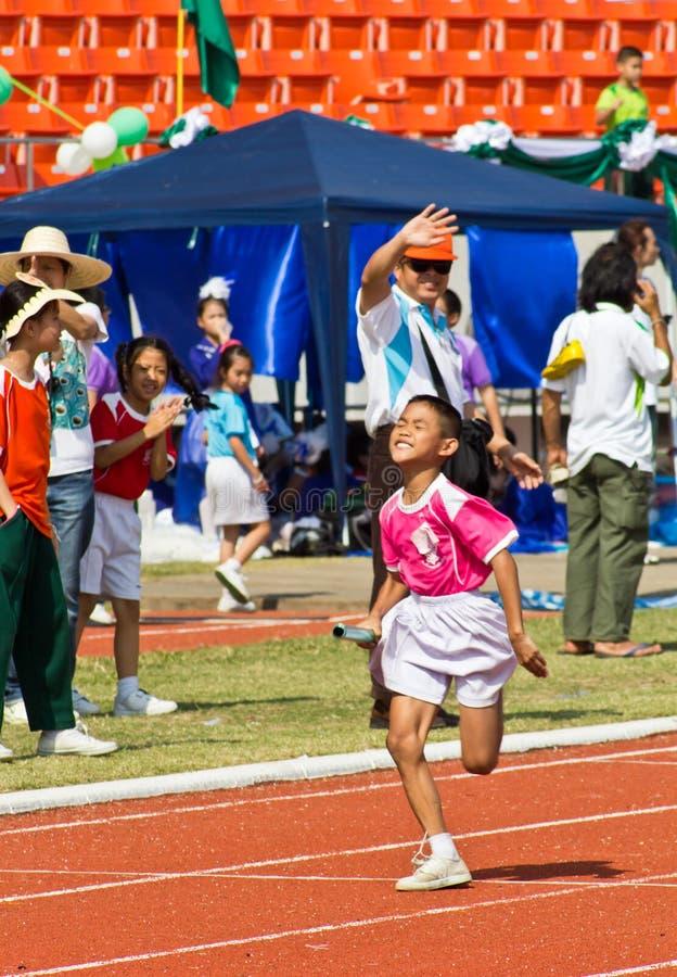 Случай дня спорта малышей стоковые изображения rf