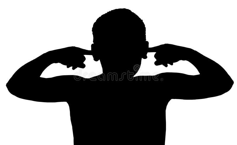 слушать ребенка мальчика изолированный жестом не бесплатная иллюстрация