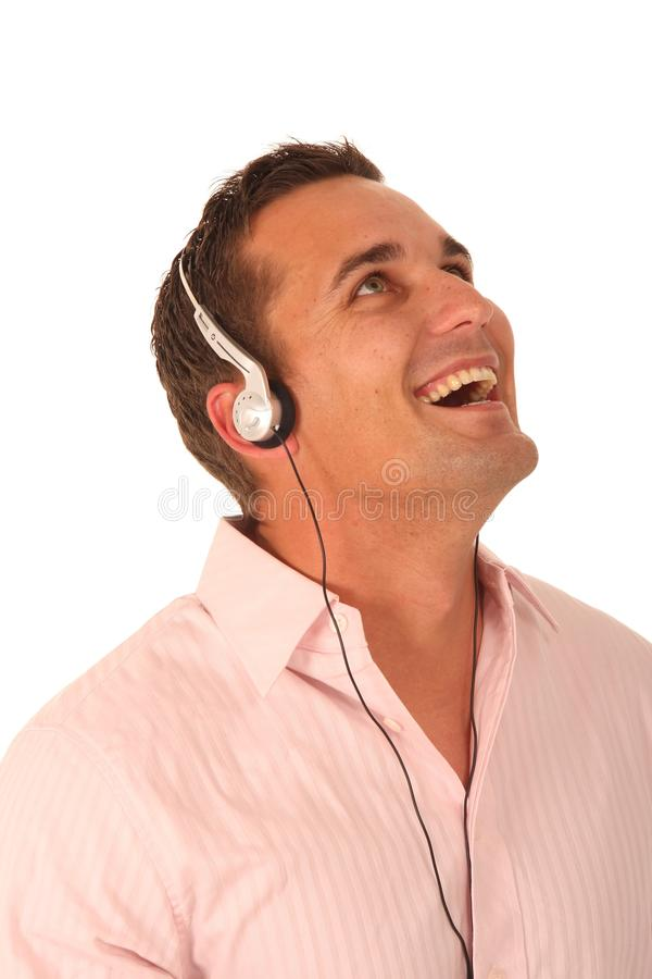 слушая нот человека стоковое фото rf
