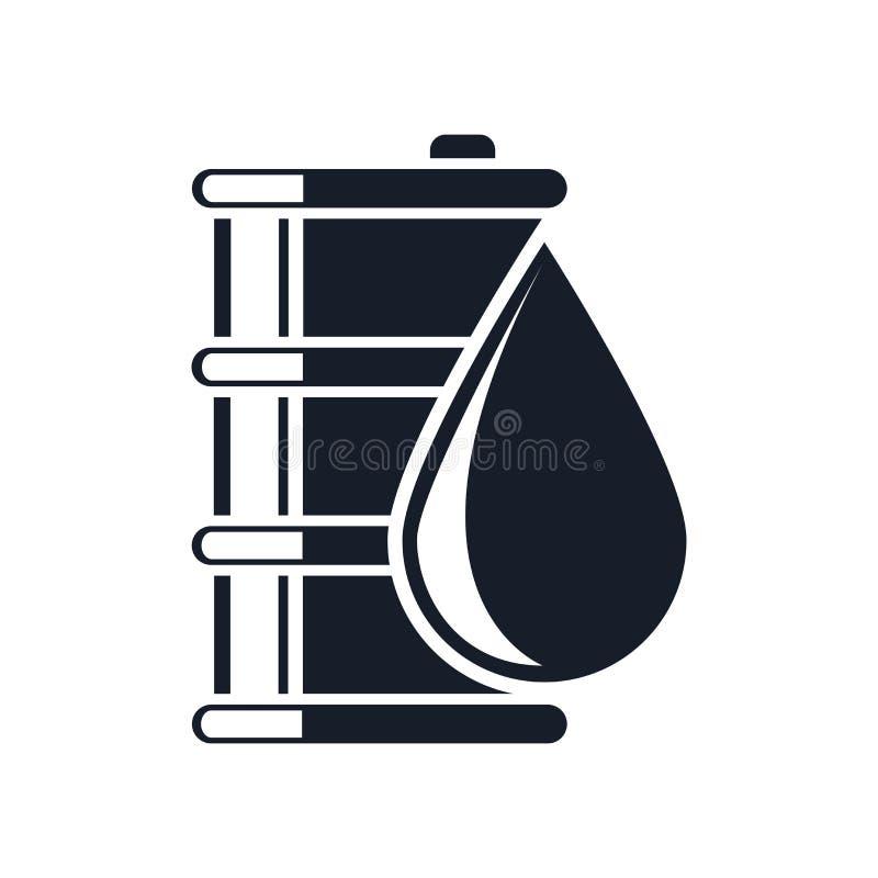 Смажьте знак и символ вектора значка изолированные на белой предпосылке, концепции логотипа масла иллюстрация штока