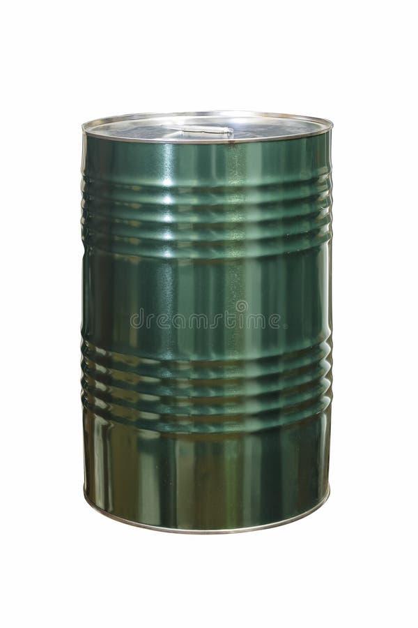 Смажьте контейнер зеленого цвета на белой предпосылке стоковые фото