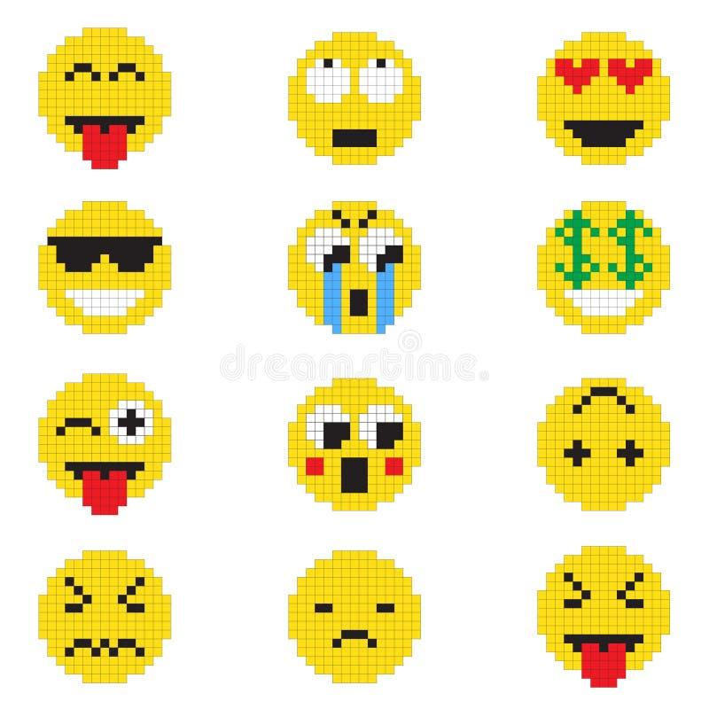 Смайлик с различными эмоциями стоковая фотография rf