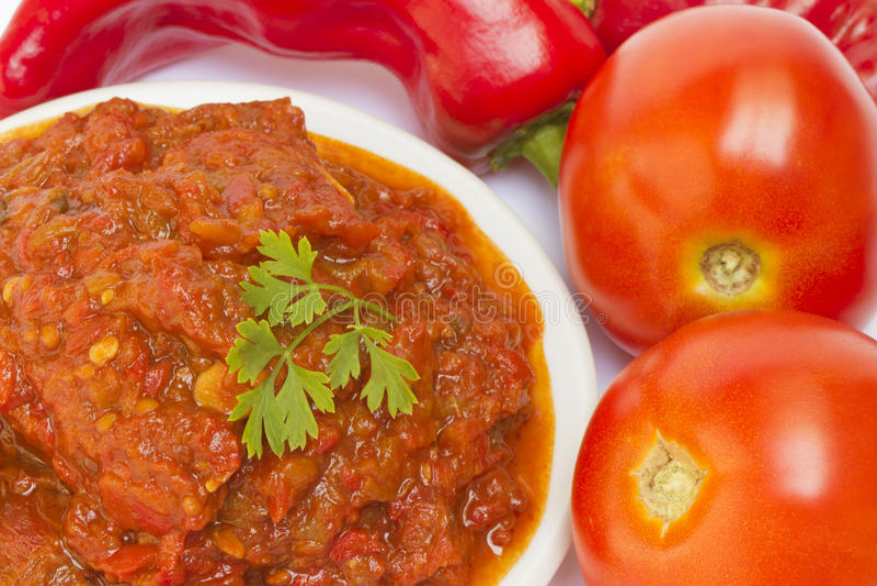Смак перца и томата Lutenica стоковые фото