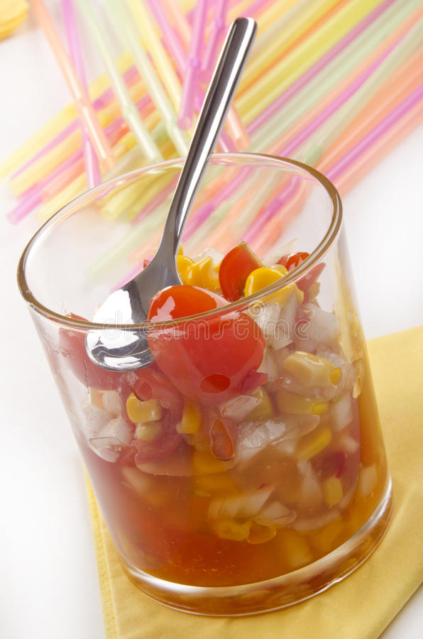Смак сладостной мозоли и томата стоковая фотография rf