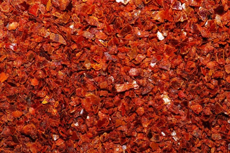 смелите перец макроса красным стоковое изображение rf