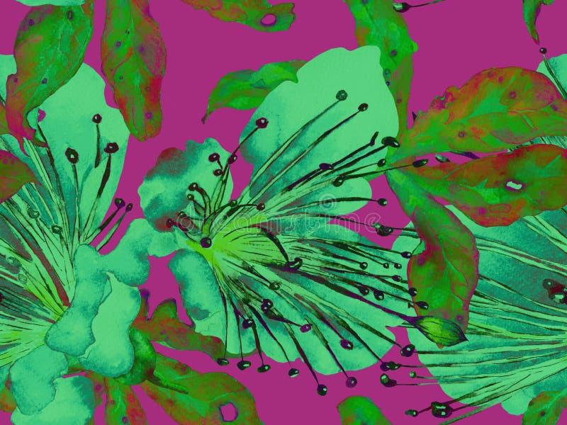 Смелый абстрактный цветочный узор иллюстрация вектора