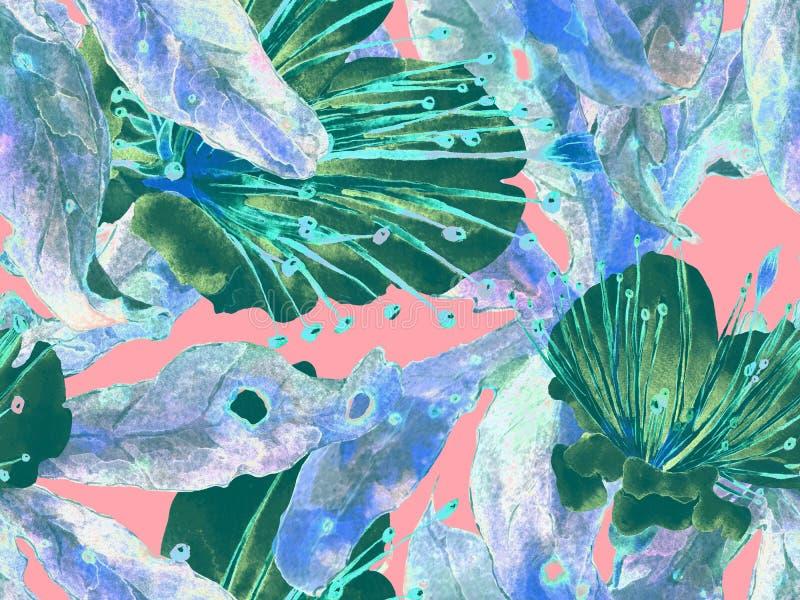 Смелый абстрактный цветочный узор стоковые фото