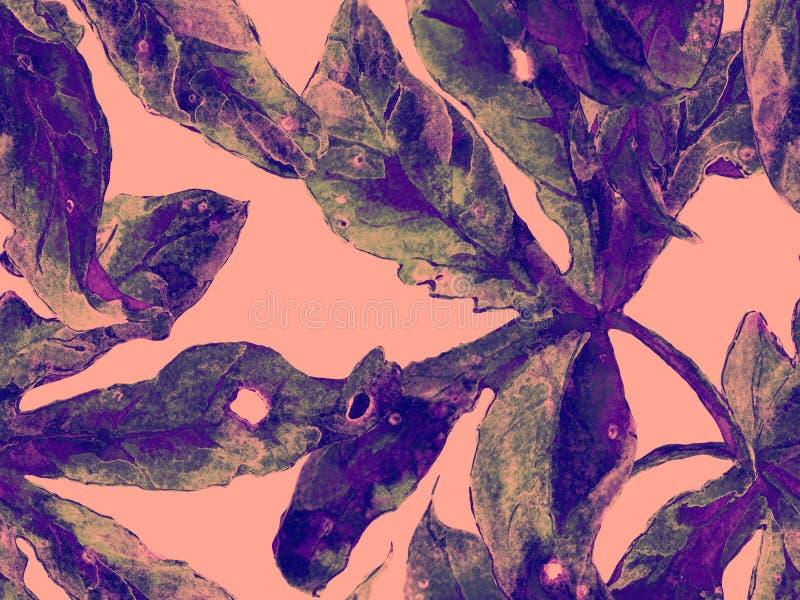Смелый абстрактный цветочный узор иллюстрация штока