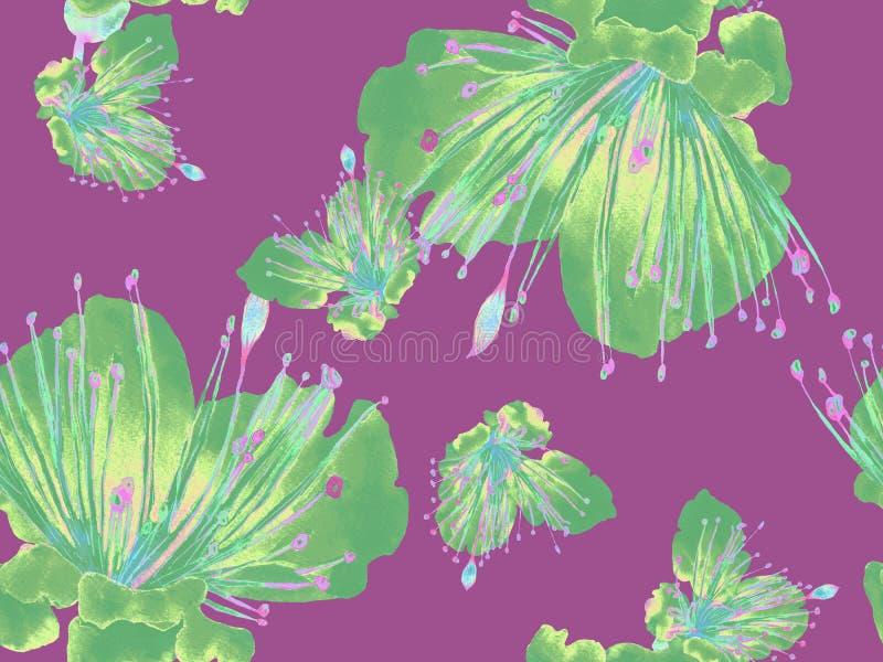 Смелый абстрактный цветочный узор бесплатная иллюстрация