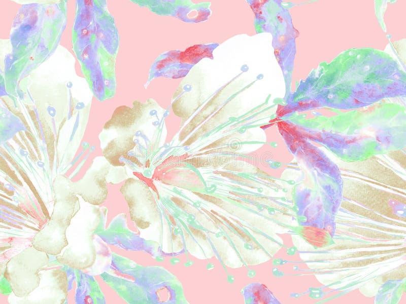 Смелый абстрактный цветочный узор стоковое изображение