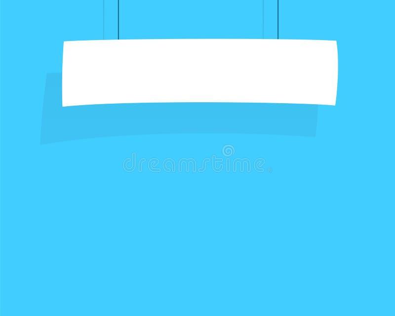 Смертная казнь через повешение знамени знака белая от вектора строки плоского иллюстрация вектора