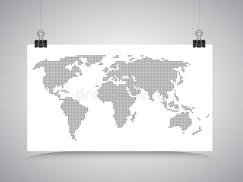 Смертная казнь через повешение карты мира на зажимах иллюстрация штока
