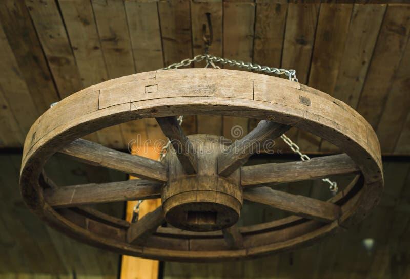 Смертная казнь через повешение колеса телеги стоковые фотографии rf