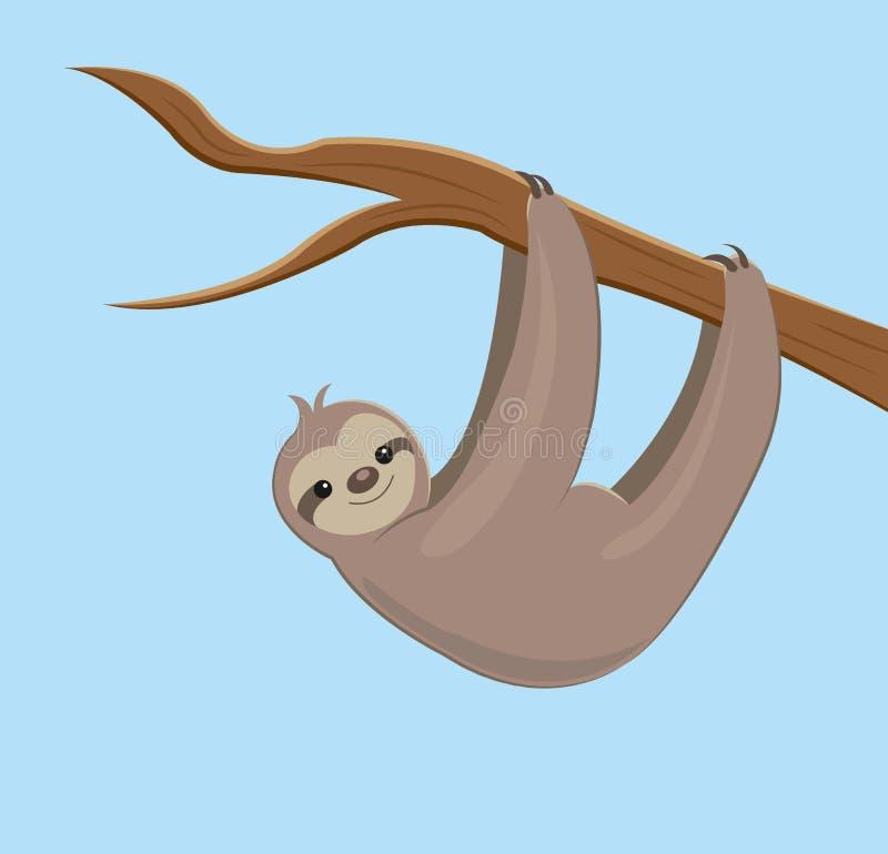 Смертная казнь через повешение лени на ветви иллюстрация вектора