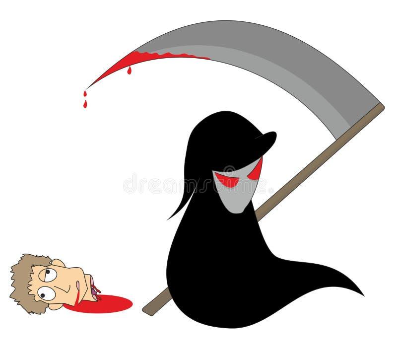 смерть иллюстрация вектора