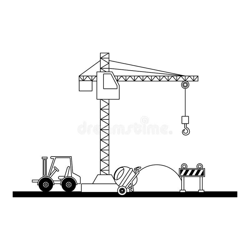 Смеситель кирпичей грузоподъемника конструкции бесплатная иллюстрация
