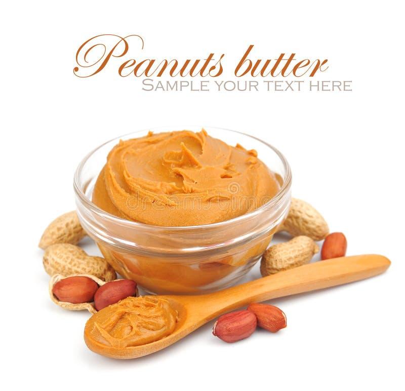 Сметанообразное арахисовое масло стоковое изображение