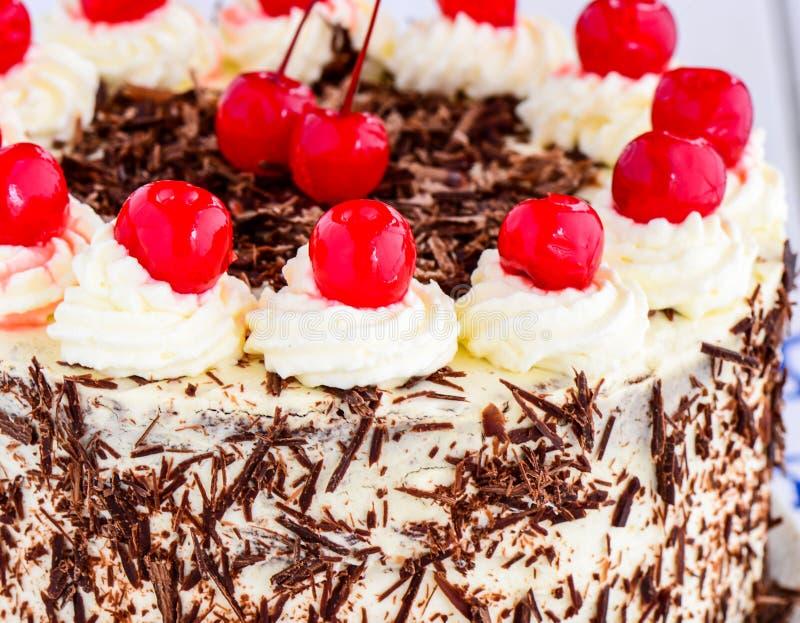 Сметанообразный торт Blackforest стоковая фотография