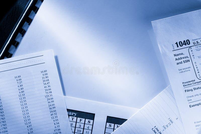 Смета текущих затрат и календарь стоковое изображение