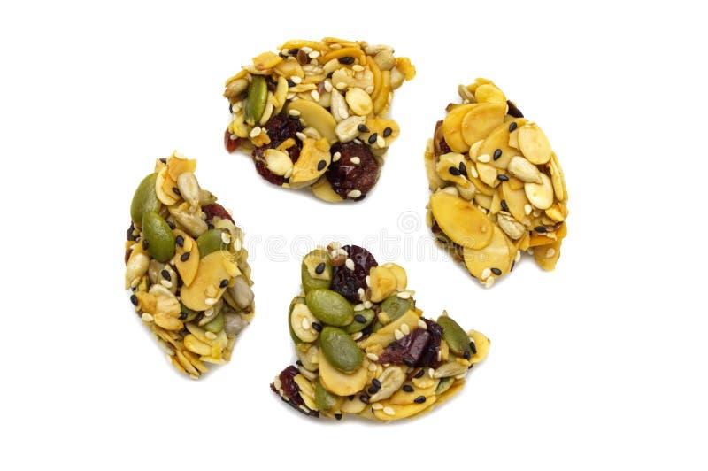 Смешайте органическое все печенье энергии зерен стоковое фото rf