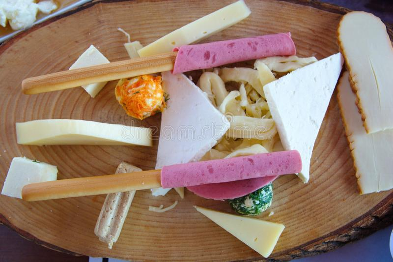 Смешанная плита сыра стоковая фотография