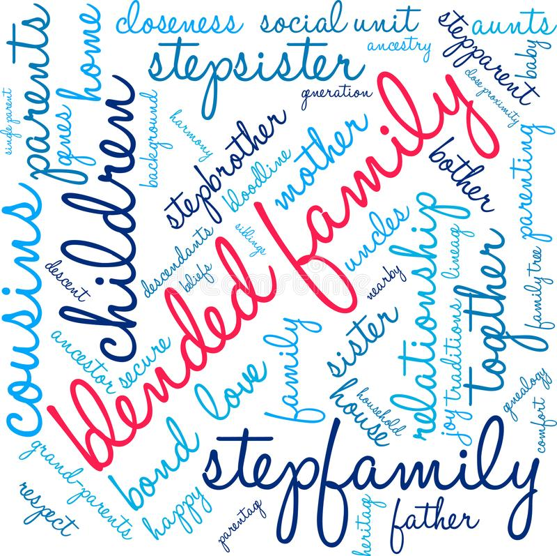 Смешанное облако слова семьи иллюстрация вектора