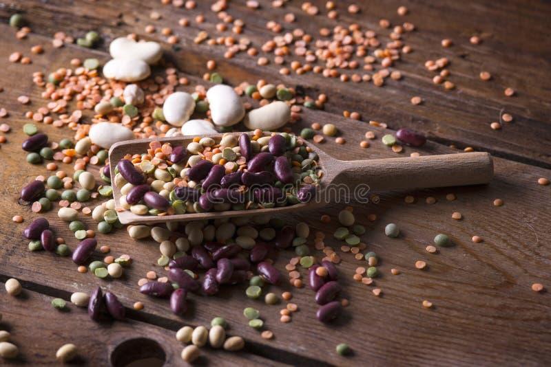 Смешанные бобы семян стоковая фотография rf