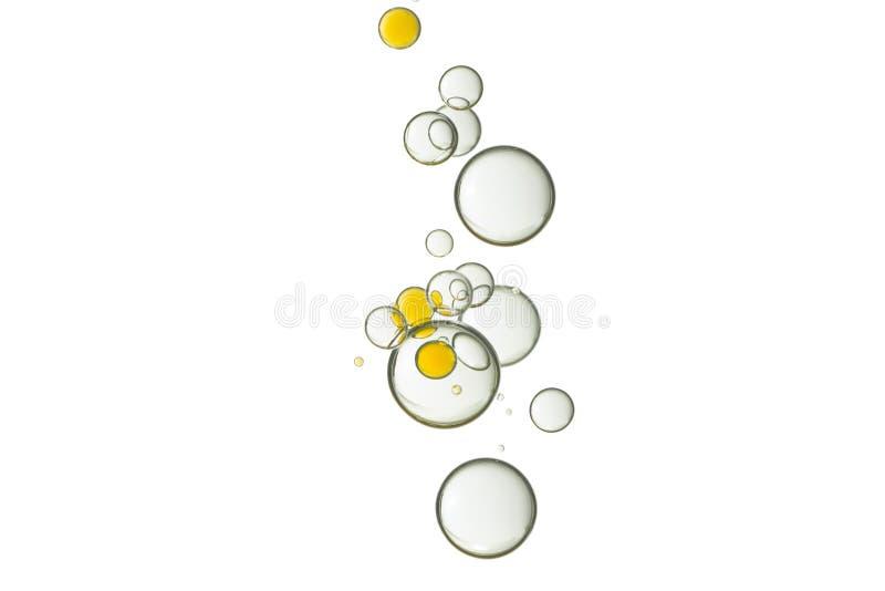 Смешанные желтые и ясные пузыри стоковая фотография rf