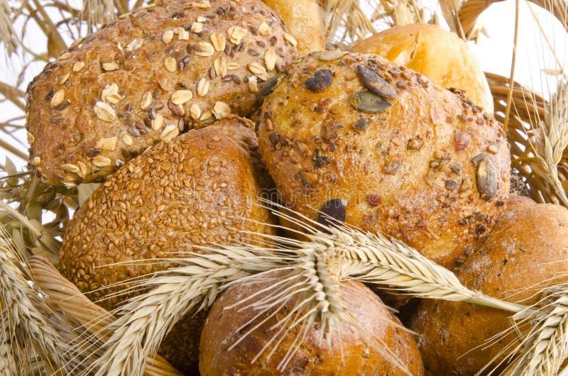 Смешанные крены хлеба стоковые изображения rf