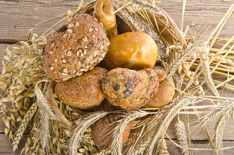 Смешанные крены хлеба стоковое изображение