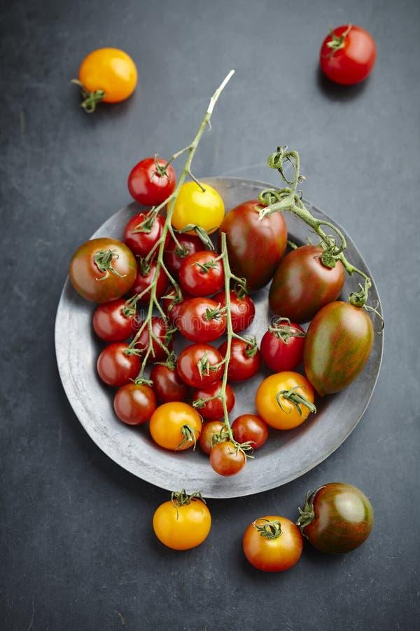 Смешанные томаты стоковое изображение rf