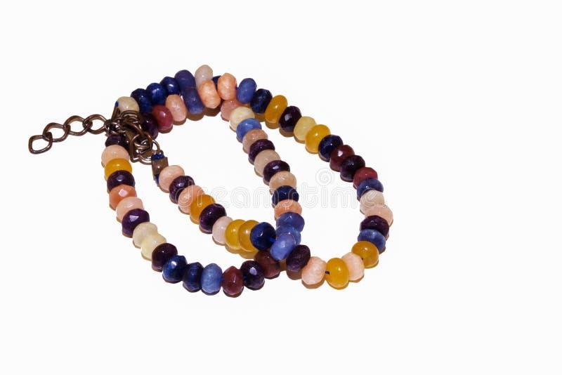 Смешанный естественный нефрит цитрина ametyst кварца пинка ожерелья камней стоковое фото rf