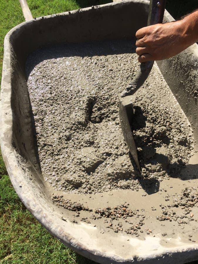 Смешанный цемент стоковая фотография