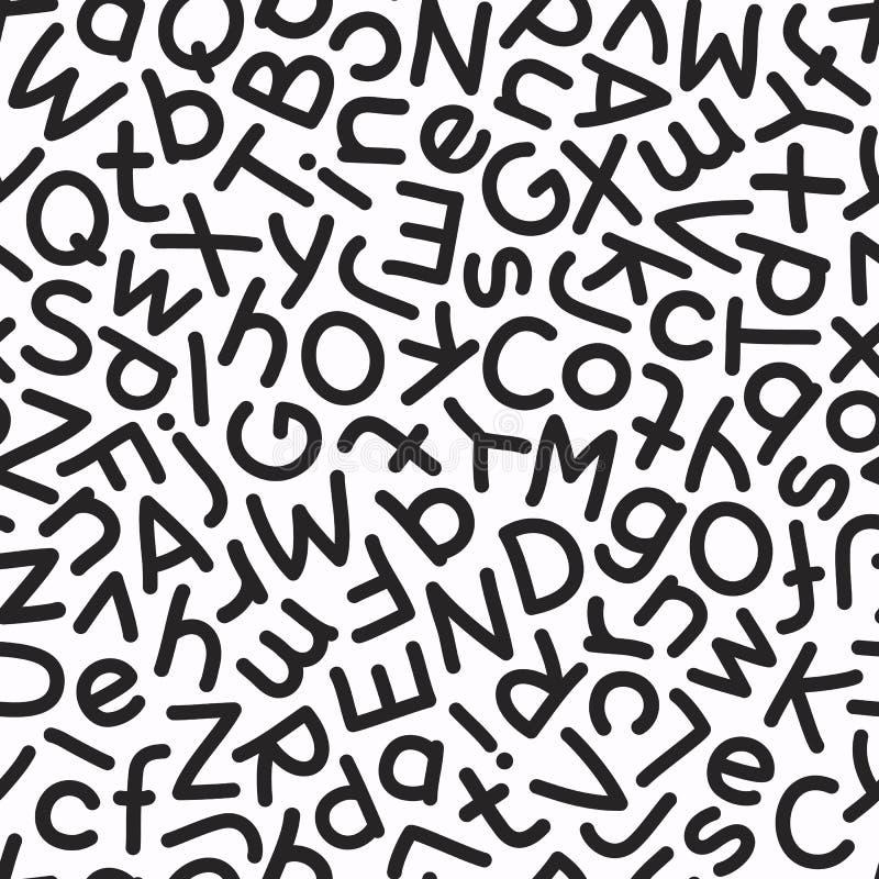 Смешивание нарисованное рукой помечает буквами безшовную картину бесплатная иллюстрация