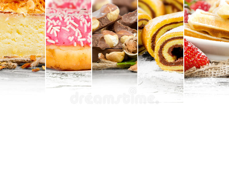 Смешивание торта и десерта стоковое изображение
