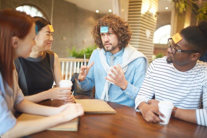 Смешная встреча стоковое изображение