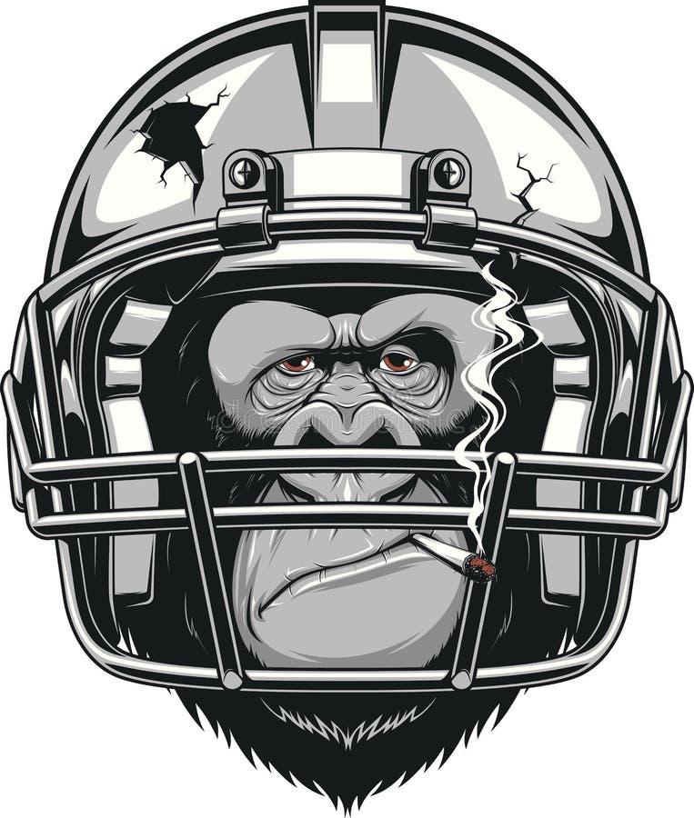 Смешная горилла иллюстрация вектора
