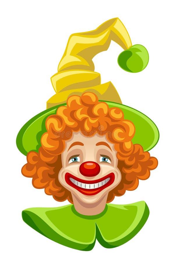 Смешная голова клоуна иллюстрация штока